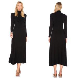 Mara Hoffman Ribbed Tie Front Midi Dress